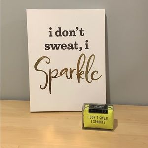 "Pinch fitness kit ""I don't sweat, I sparkle"""